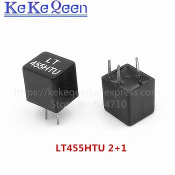 10pcs/lot New and original LT455HTU LT455HU 455K 455H 1+2 DIP-3 Ceramic filter for communication signal relay цена 2017