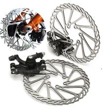 Cheaper WOSAWE  Mechanical Disc Brake Bike Cycling Bicycle Front Rear Caliper 160mm Rotors Set
