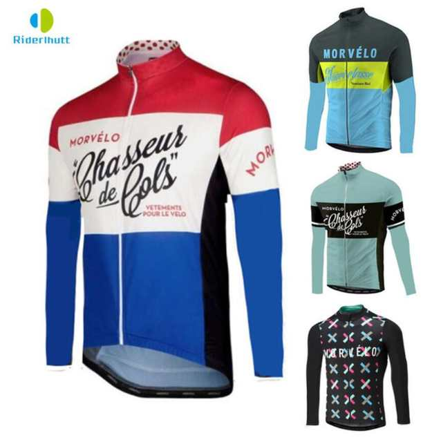 2018 spring autumn Morvelo Classic cycling jersey for men Road bike cycling  wear Maillot Ciclismo f8f49efb4