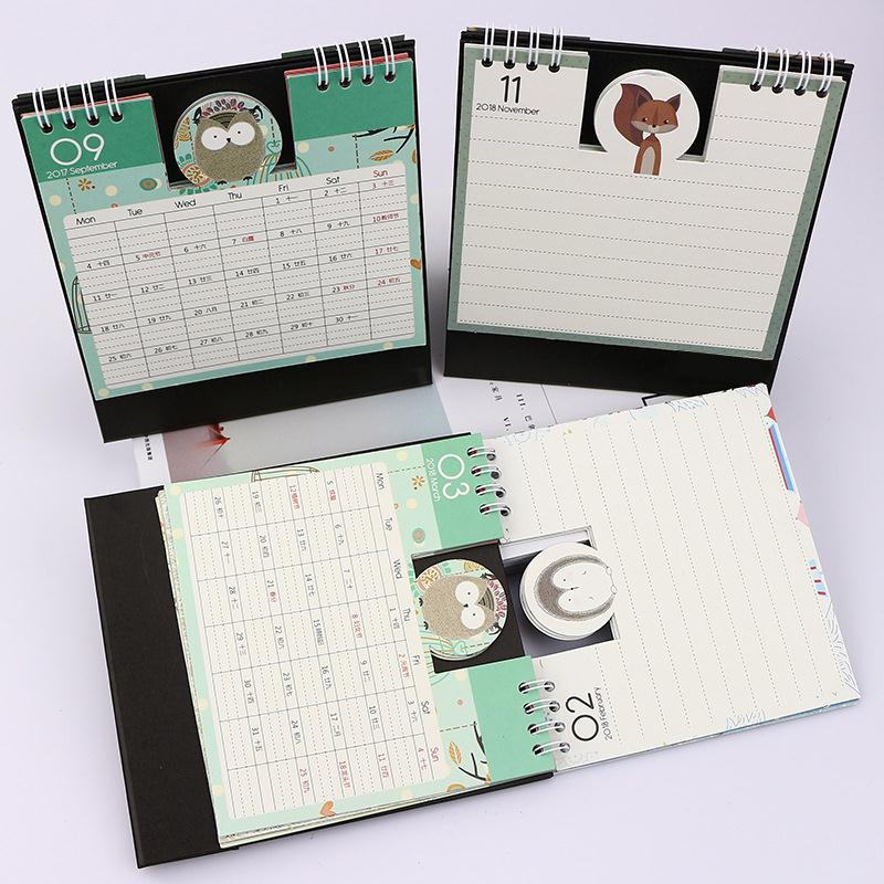 cobee cute kawaii desk calendar schedule planner cute diy 2018 stand