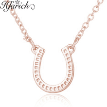 Hfarich Charming Tasteful Fascination Horseshoe Necklace Horse Hoof Nobleness Women Girls Chain Birthday Party Gifts
