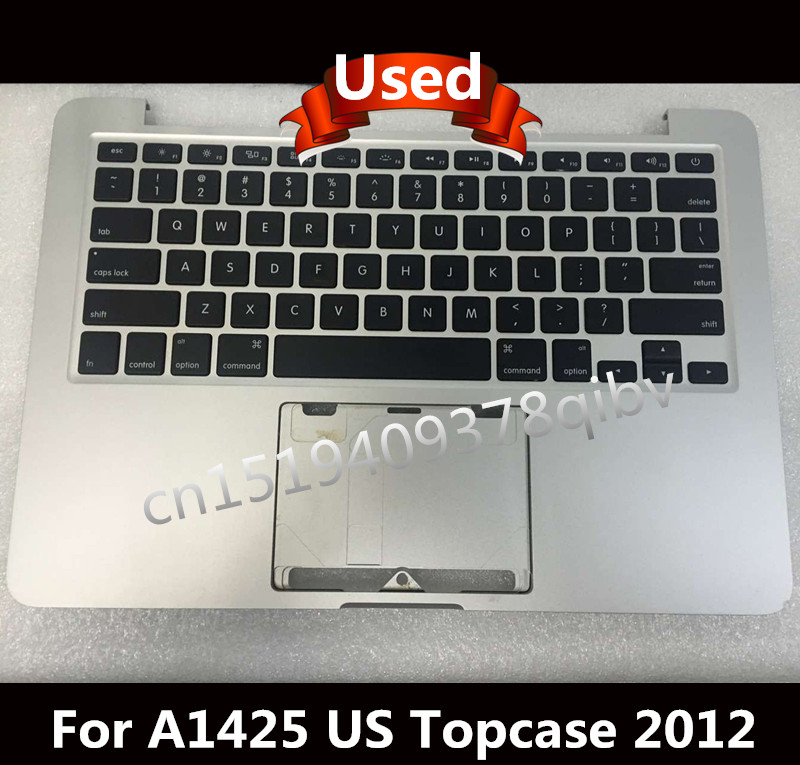Used For Macbook Pro 13.3'' A1425 Topcase Palmrest Top case with US keyboard no track pad 2012 new ru for lenovo u330p u330 russian laptop keyboard with case palmrest touchpad black
