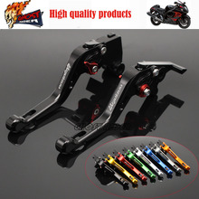 fits for SUZUKI GSX1300 HAYABUSA 2008-2015 Aluminum short Brake Clutch Levers LOGO HAYABUSA