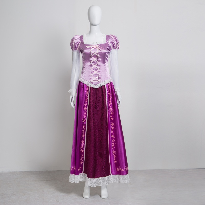 Adulte raiponce cosplay costume Halloween princesse emmêlée Sofia haut et jupe carnaval soirée soirée fille robe