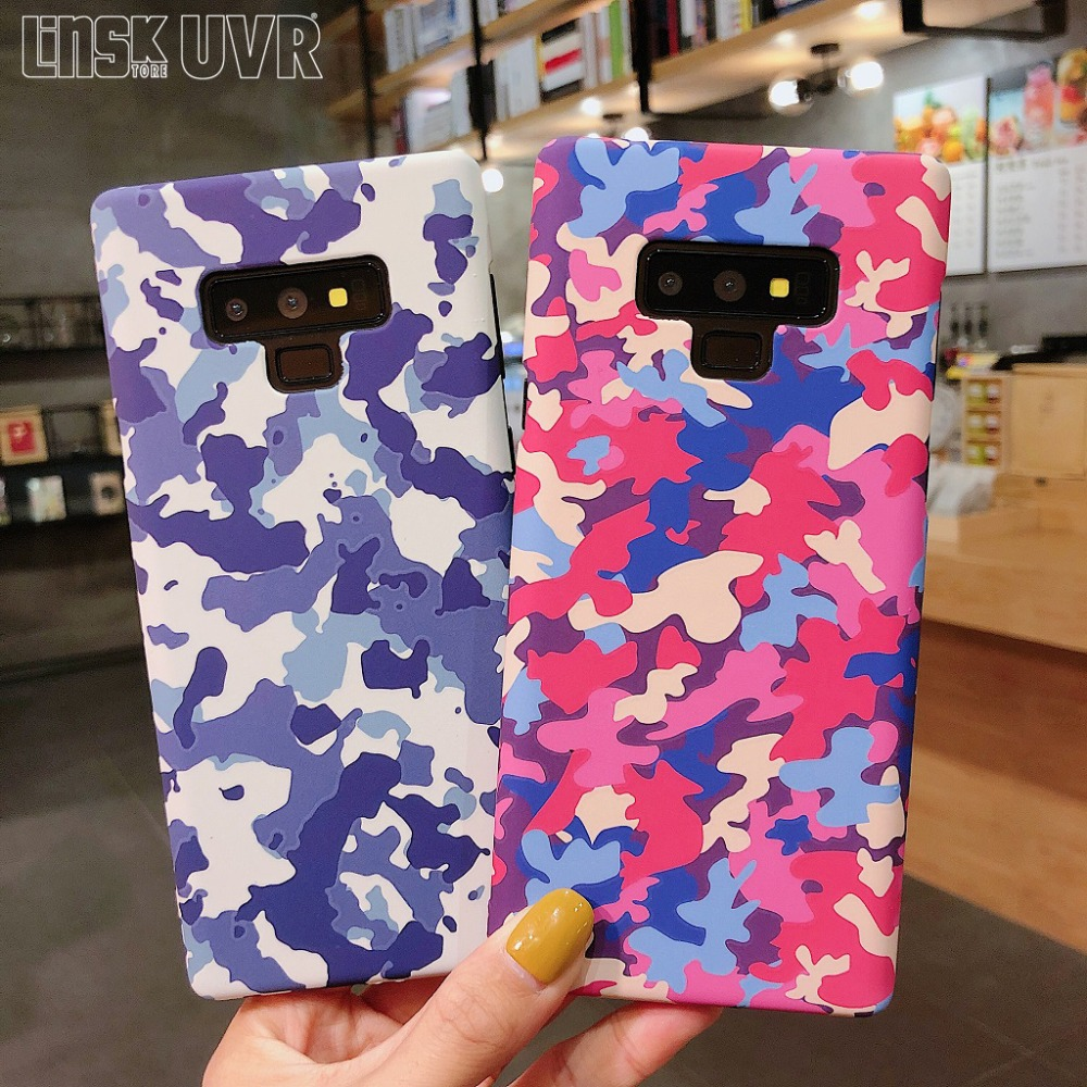 Fitted Cases Fashion Army Camo Military Navy Blue Camouflage Matte Case For Samsung Galaxy S8 S9 Plus Note8 9 Hard Pc Matte Cover Capa Fundas High Safety