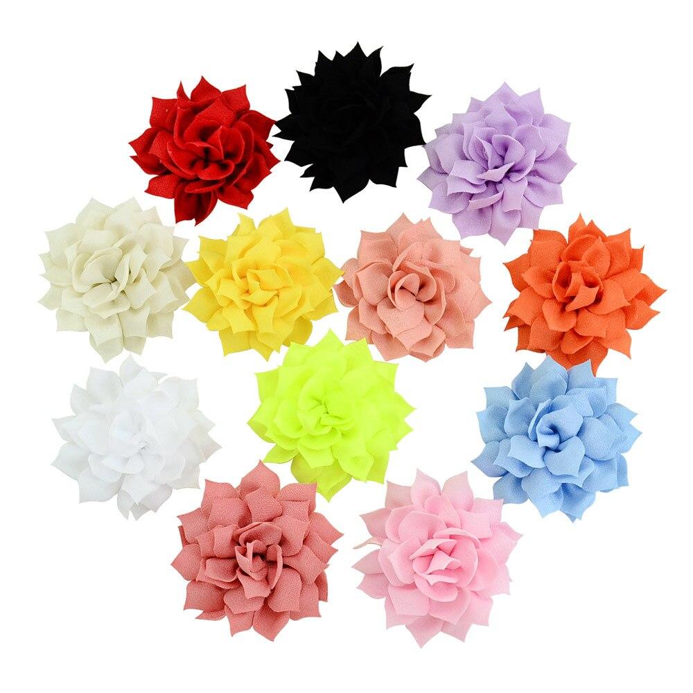Ruoshui 2.7 inches Floral Hairpins for Girls Child Hair Haar Accessories Flower Hair Grip   Headwear   Hair Clips Baby Barrettes