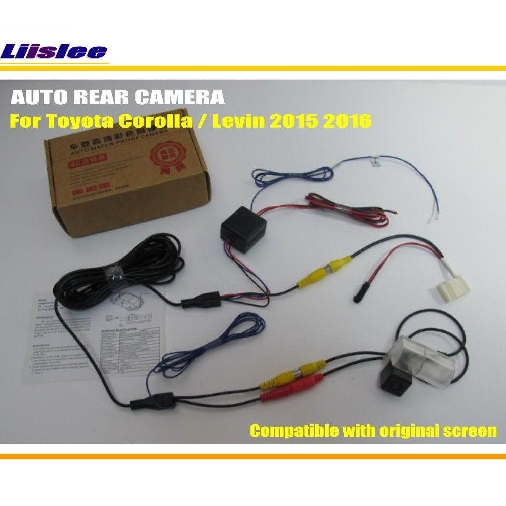 Liislee For Toyota Corolla Levin 2015 2016 Rca Original Screen Wiring Diagram Compatible Rear View Camera Back Up Reverse Sets In Vehicle From