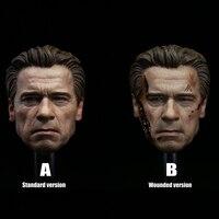 DIY 1/6 Figure Head Carving T800 Arnold Schwarzenegger Action Figure Male Head Sculpt Painted Sculpt Gift Accessories