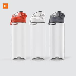 Image 1 - Youpin тритана спортивная чашка 480 мл 620 мл, безопасный замок, нетоксичный и безвкусовый, устойчивость к падению, путешествия, спорт, бег, бутылка