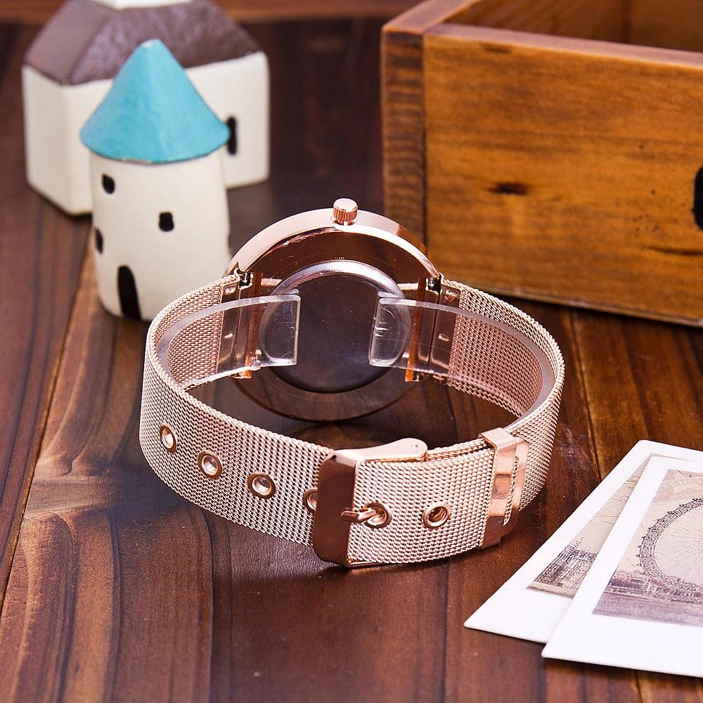 Hot Fashion Rostfritt Stål Rose Gold & Silver Armband Wtach Luxury - Damklockor - Foto 5