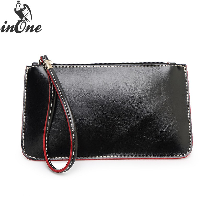 Solid-Color-Bags Handbags Clutch Purses Wristlet Evening-Bag Multi Cell-Phone-Bag Zipper