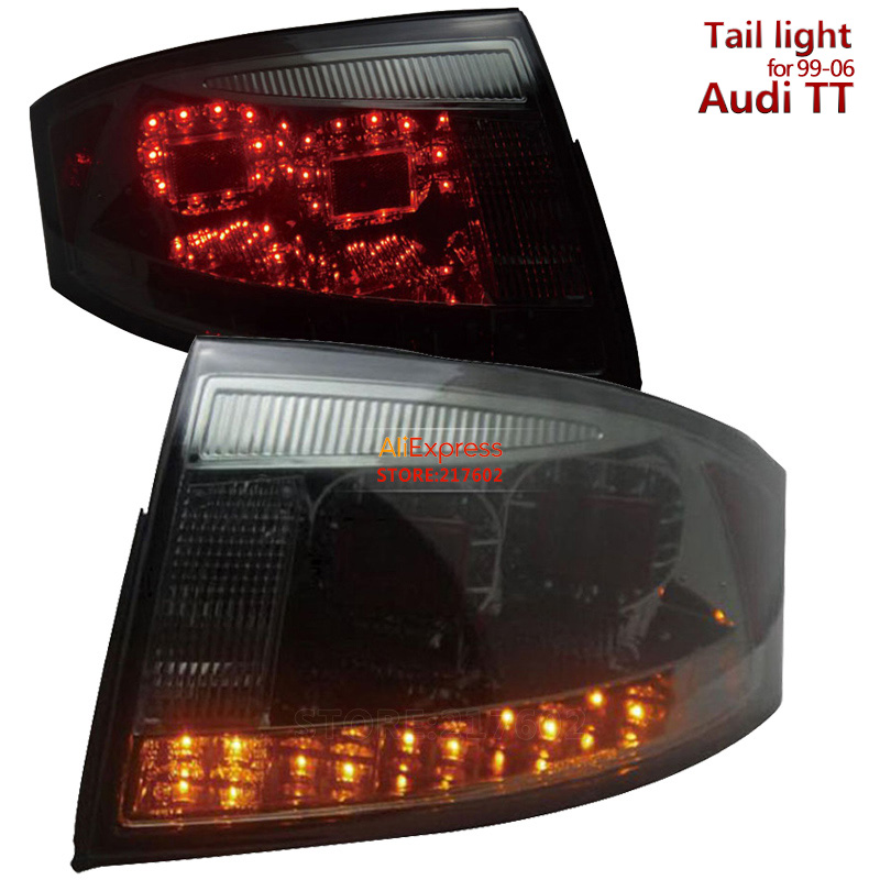 for Audi TT LED Tail lights fit 1999 2006 year Ensure High Quality and fitment Smoke Black Housing Rear lights 1 year Warranty