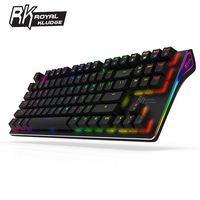 Royal Kludge RK G 87 87keys Wireless Bluetooth 3.0 USB Wired Dual Mode Mechanical Gaming Keyboard Brown Switch Brown Switch