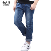 Boys Jeans 6 8 10 12 to 14 Years Blue Cowboy Cotton Kids Jeans for Children Pants for Spring Kids Jeans Boys Clothes 12 14 5P05