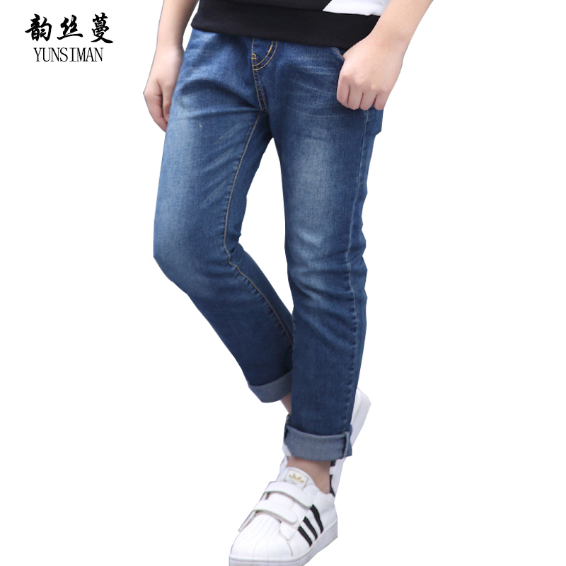 Boys Jeans 6 8 10 12 to 14 Years Blue Cowboy Cotton Kids Jeans for Children Pants for Spring Kids Jeans Boys Clothes 12 14 5P05 цена 2017