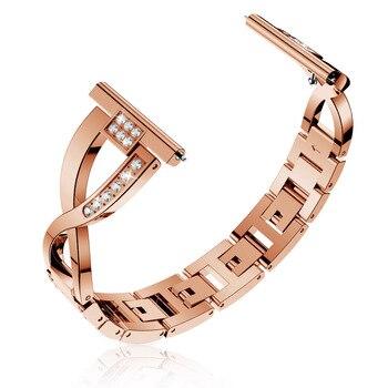 Women Stainless Steel Belt Strap for Samsung Galaxy Watch 3 Band 41mm 45mm Active 2 1 40mm 44mm Diamond Bracelet