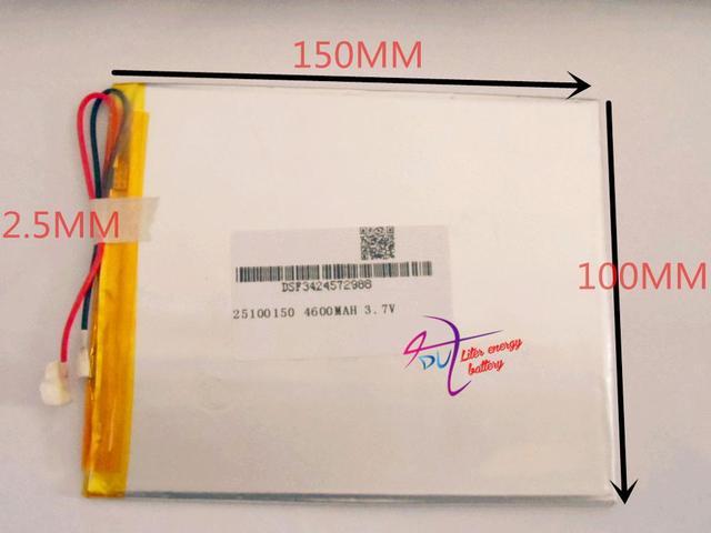 Melhor marca da bateria 3.7 V, 4600 mAH, [2599150] PLIB (bateria de iões de lítio polímero/L G) bateria Li-ion para tablet pc, e-book; CUBO U55GT