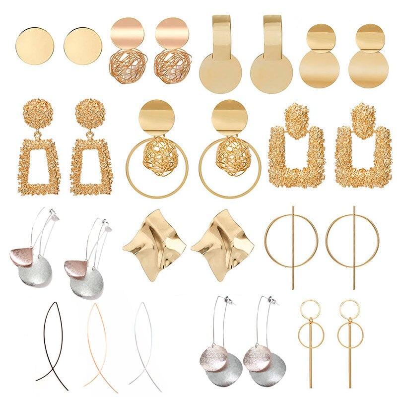 Fashion Statement Earrings 2019 Big Geometric earrings For Women Hanging Dangle Earrings Drop Earing modern Jewelry