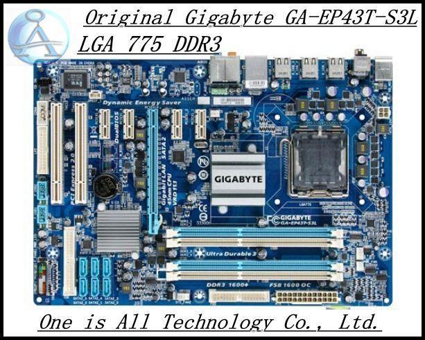 Frete grátis original motherboard para gigabyte ga-ep43t-s3l lga775 ddr3 quad core sozinho significativamente grande placa ep43t-s3l