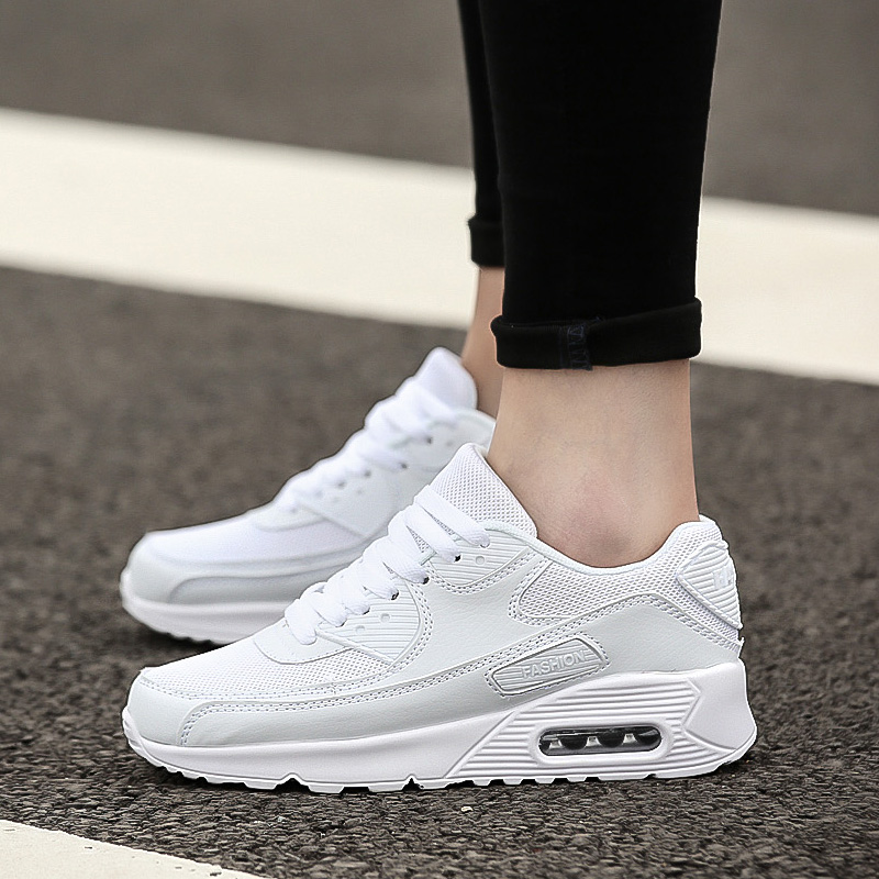 Ceyue New White Running Shoes Women Breathable Sneakers Women Athletic Outdoor Sports Shoes Air Shoes Love Zapatillas Mujer