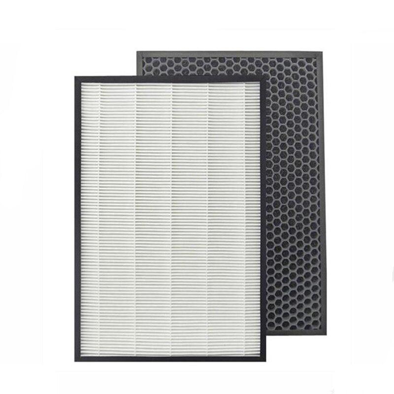 Для Sharp Воздухоочистители kc-d50-w, kc-e50, kc-f50, kc-d40e Замена кучи фильтр 40*22*2.8 см + активизированный угольный фильтр 40*22*0.8 см