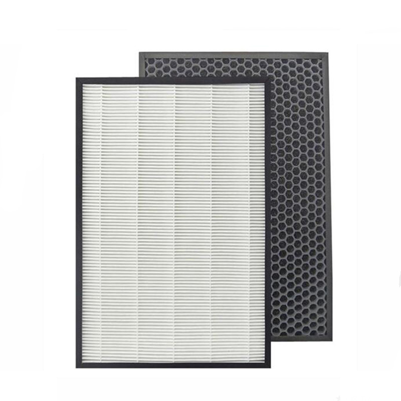 For Sharp Air Purifier KC-D50-W,KC-E50,KC-F50,KC-D40E Replacement Heap Filter 40*22*2.8 cm +Actived Carbon Filter 40*22*0.8cm