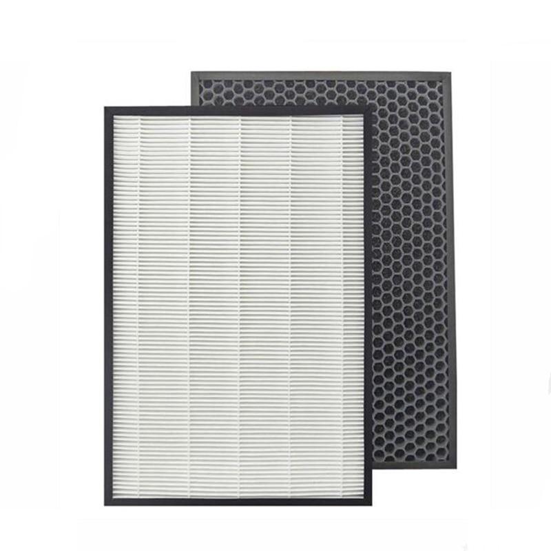 For Sharp Air Purifier KC-D50-W,KC-E50,KC-F50,KC-D40E Replacement Heap Filter 40*22*2.8 cm +Actived Carbon Filter 40*22*0.8cm