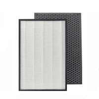 For Sharp Air Purifier KC D50 W,KC E50,KC F50,KC D40E Replacement Heap Filter 40*22*2.8 cm +Actived Carbon Filter 40*22*0.8cm