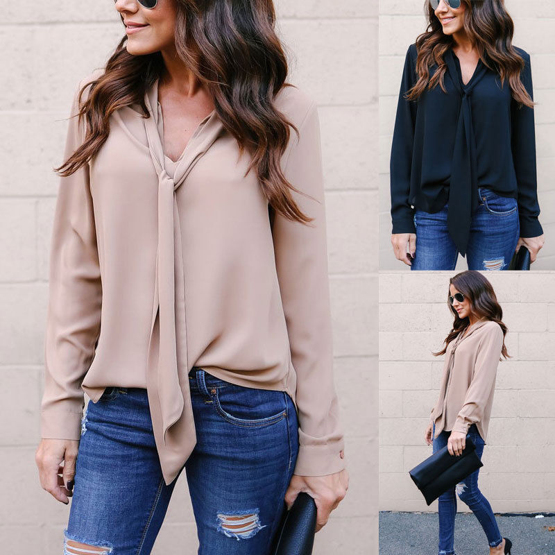 Laimeng/_World Women Casual Round Neck Solid Long Sleeve T-Shirt Tops Autumn Spring Loose Tunic Blouse