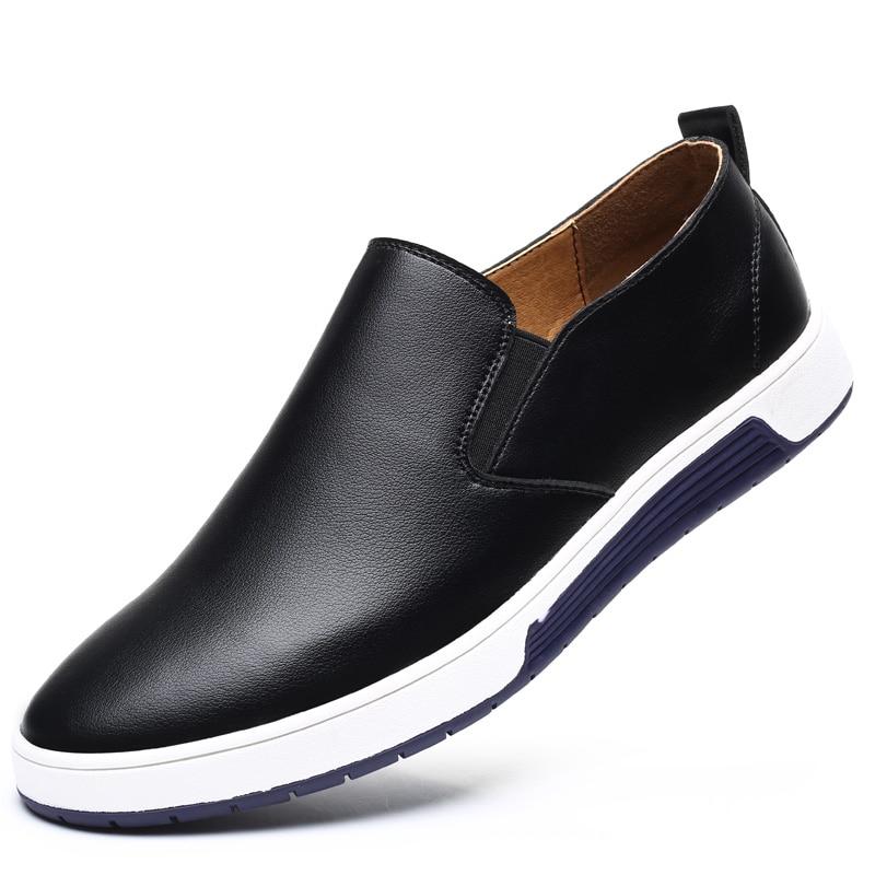 Size 37-48 New Men's Quality PU   Leather   Shoes Soft Leisure Shoes 2018 Autumn Men's Casual Shoes