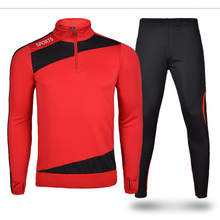 High Quality breathable Long Sleeve soccer jersey set football jersey training pants suit male sportswear set