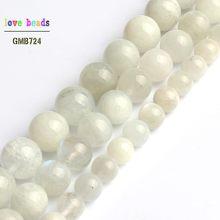 Natürliche Mondstein Perle Runde Lose Perlen für Schmuck Machen Diy Armband 15 ''Strang 6mm 8mm 10mm
