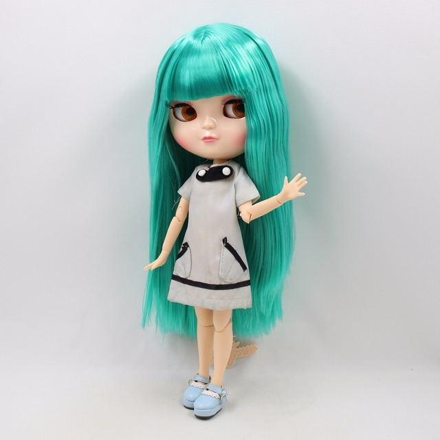 ICY Neo Blythe Doll Green Hair Azone Jointed Body 30cm
