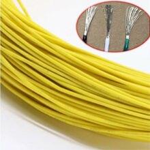 8~ 24AWG UL1015 желтый электронных провод гибкий многожильный кабель Шнур Олово Медь охраны окружающей среды провода 1/2/3/5/10/20 метров