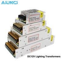 Transformadores de iluminación DC12V, adaptador de corriente del controlador LED 5A 10A 20A 30A para tira de luces LED, fuente de alimentación de 60W 120W 240W 360W