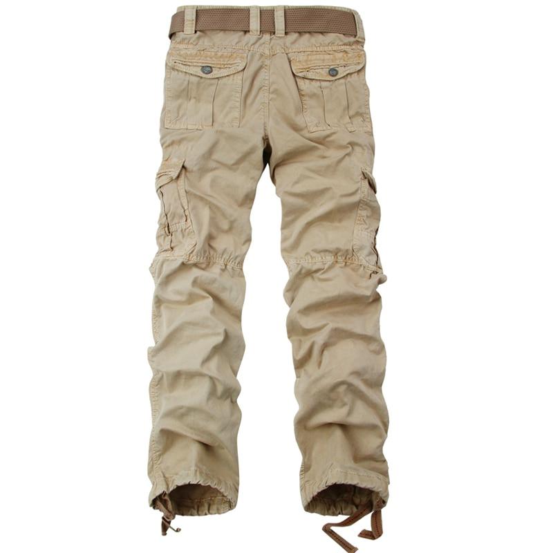Tropfenverschiffen Neue Arivals Multi-Taschen Feste Mens Cargo Pants - Herrenbekleidung - Foto 3