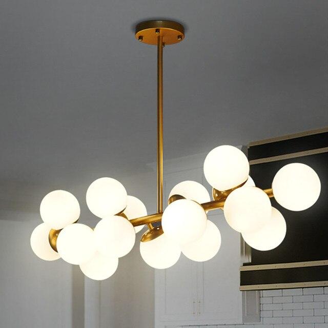 Designer\'s lamp van hanglamp woonkamer na moderne creatieve melkwit ...