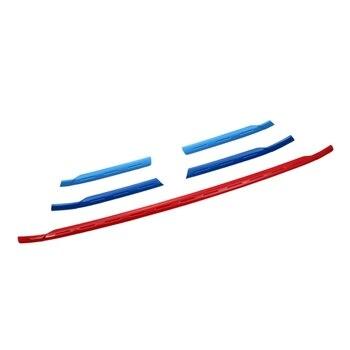 Montford absプラスチック3色フロントグリル修正フロントグリル光沢のあるフロントセンターグリル装飾5ピース用アウディq3 2016 2017