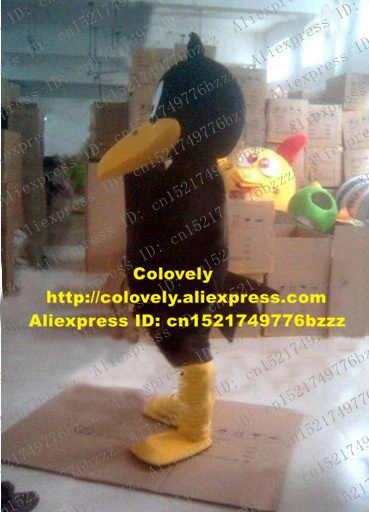 Smart Hitam Daffy Duck Maskot Kostum Mascotte Quackquack Bebek Mati Ente dengan Kuning Besar Mulut Kaki Dewasa No 2685 Gratis kapal