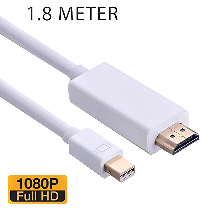 6FT 10FT Thunderbolt Mini Display Port DP to HDMI Male Adapter cable For Apple Macbook Mac Air Surface pro2 pro3 4 thinkpad X1 dh 01 mini display port male dp to hdmi felmale adapter red