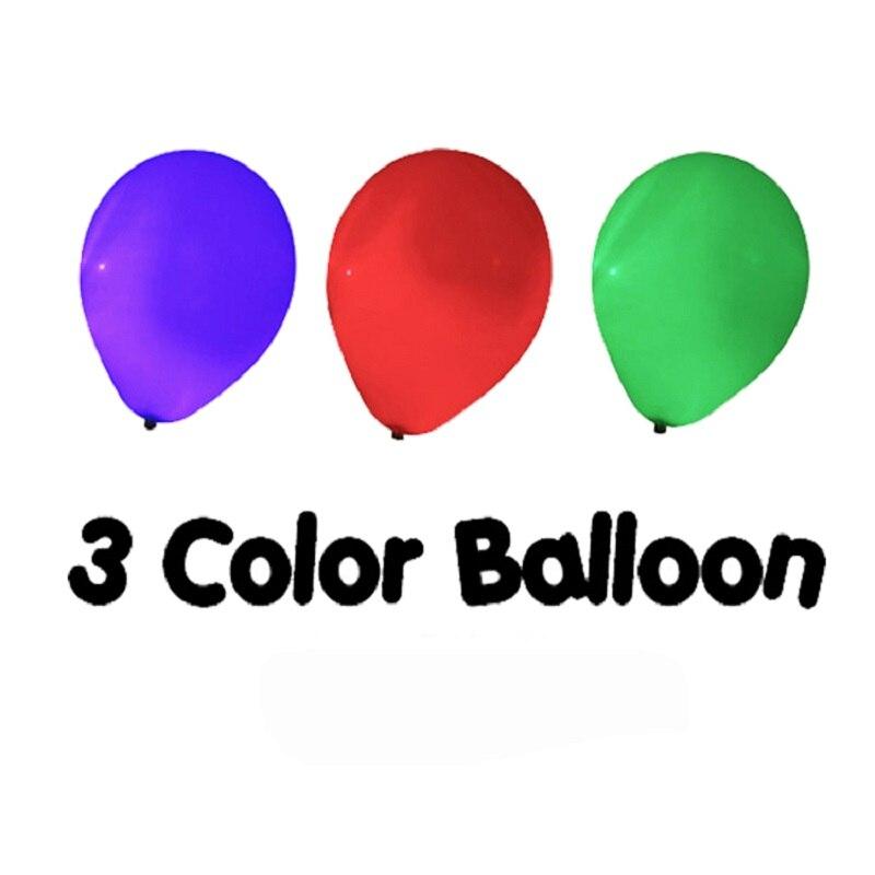 Contrôle à distance de ballon de trois couleurs changeant des tours de magie de couleur