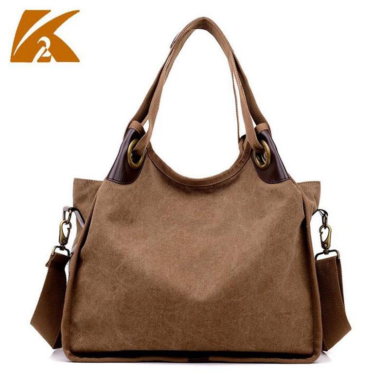 KVKY Women's Pluse Size Canvas Messenger Bag Vintage Design Big Capacity Tote Handbag Casual Travel Crossbody Shoulder Bag B482 цена