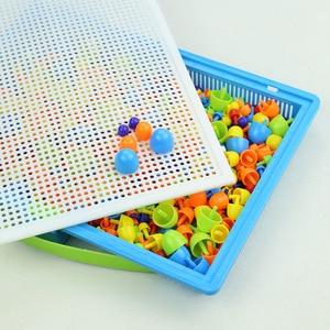 Image 5 - 296 cái/bộ Hộp đóng gói Hạt Nấm Móng Hạt Thông Minh 3D Trò Chơi Xếp Hình Ghép Hình Bảng cho Trẻ Em Đồ Chơi Giáo Dục