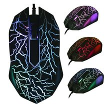 Professional Colorful Backlight 4000DPI Optical Wired Gaming Mouse Mice 3 Buttons USB Wired Luminous Mouse drop shipping все цены