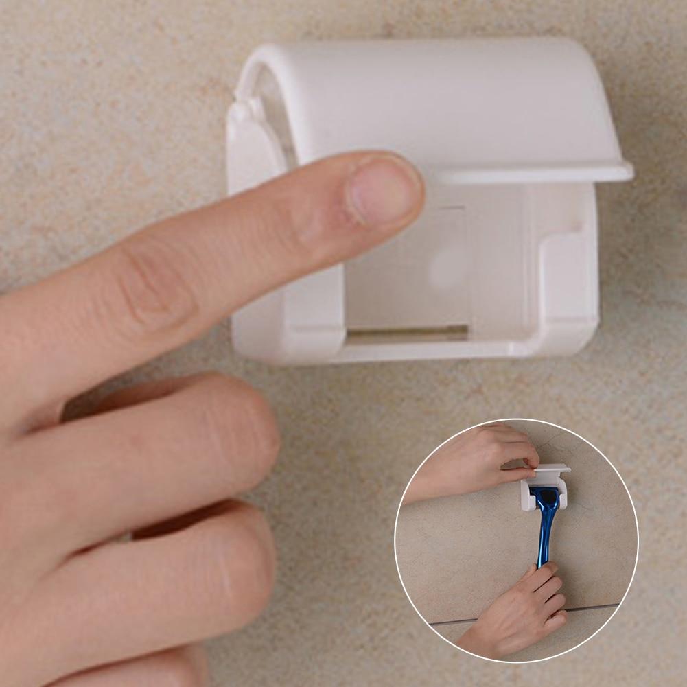 Dustproof Shaving Razor Rack With Suction Cup Shaving Knife Rack Shaver Holder Ror Men Razor Shaver Bathroom Accessories #