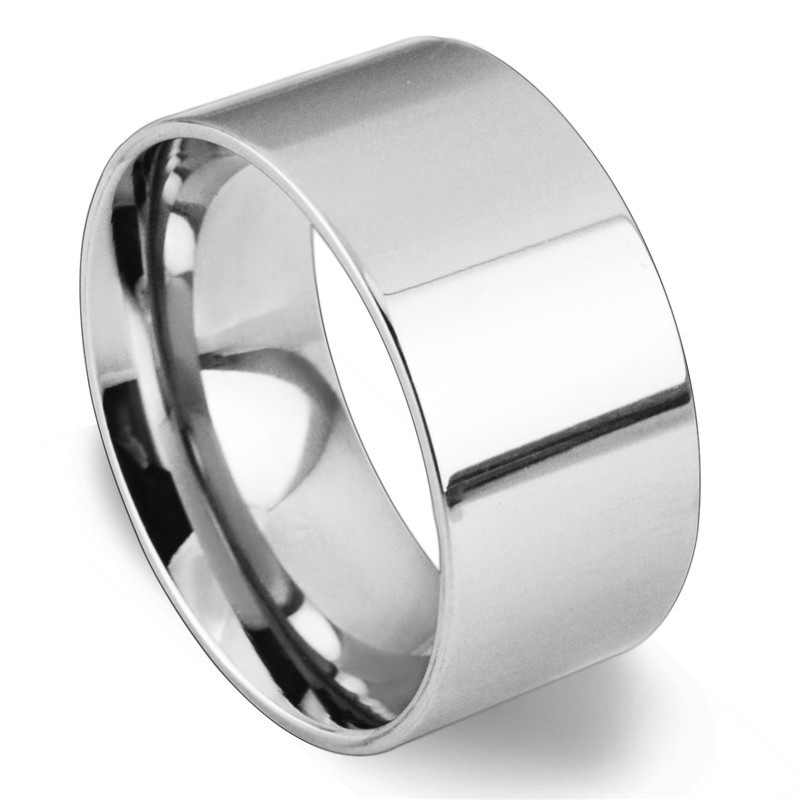 Light version 10MM wideTitanium Men rings 316L jewelry wholesale lots