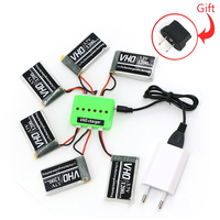 VHO 6PCS 3 7V 1200mAh Lipo Battery And Charger Box EU Charger For Syma X5SW X5SC