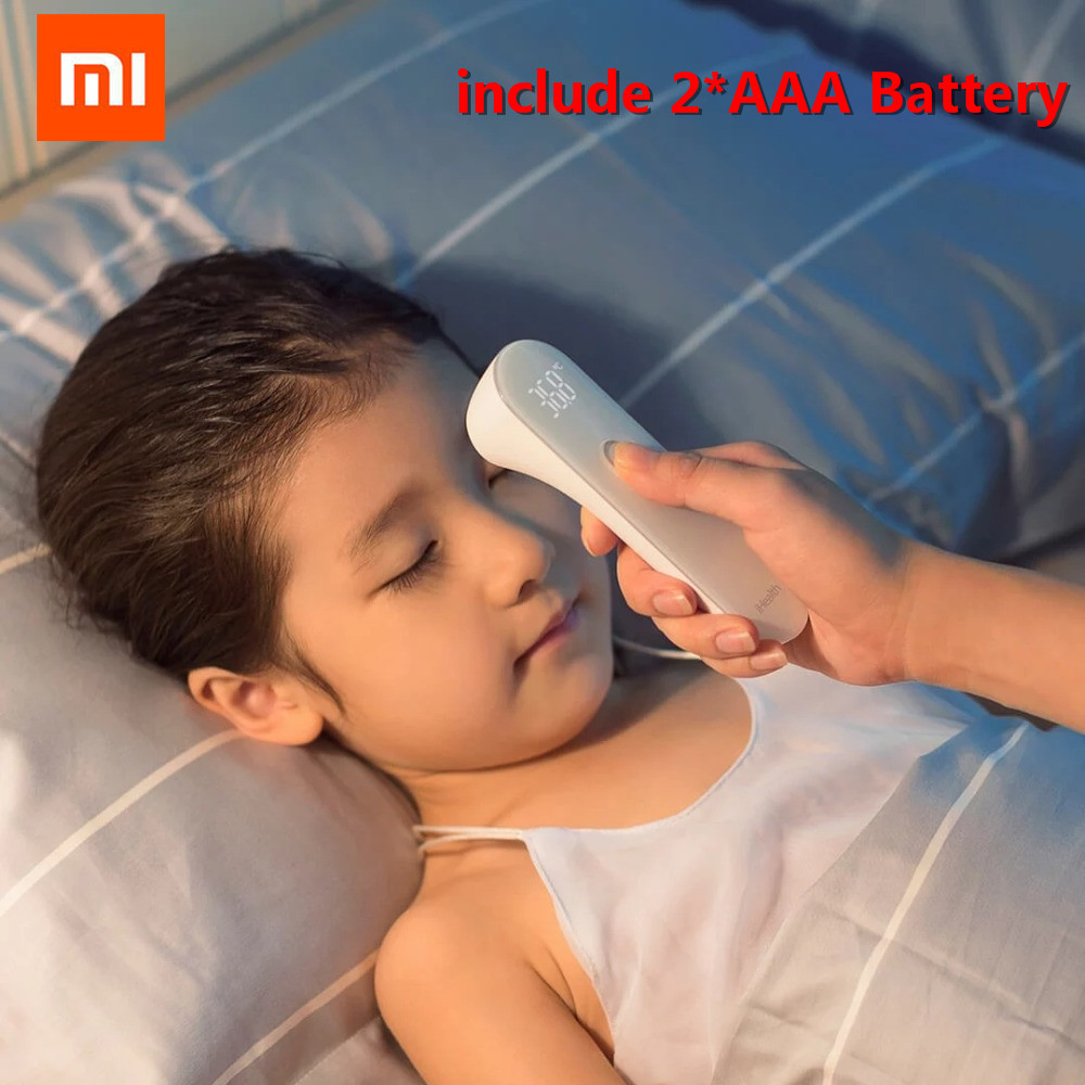 Original Xiaomi Mijia IHealth Thermometer Electronic LED Digital Display Baby Thermometer Non-Contact Body Infrared Thermometer original xiaomi mijia ihealth thermometer accurate digital fever infrared clinical thermometer non contact measurement led shown