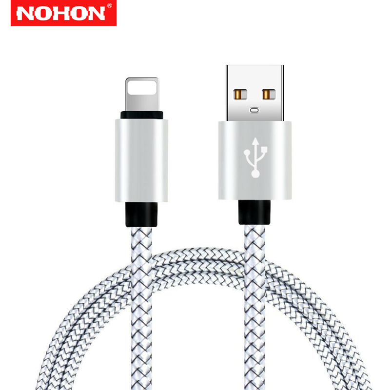 NOHON 2m Mobile Phone USB Data Sync Cable for iPhone 5 5S 6 6S 7 8 Plus X Xs Max Xr SE Fast Charging USB Charger Cables 3m Long in Mobile Phone Cables from Cellphones Telecommunications