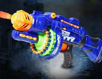 Taorisfun arma de brinquedo elétrico blaster airsoft pistola com 40 pçs balas macias arma de plástico arma segura ao ar livre jogo militar brinquedo arma
